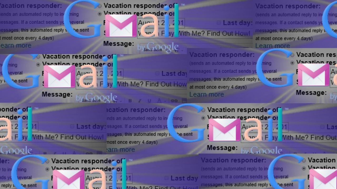 gmail vacation responder