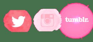 pink social media logos