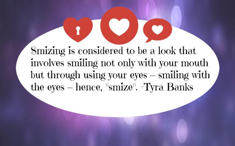 smizing smiling with your eyes