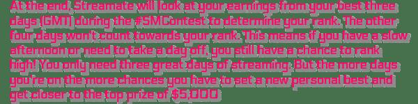 streamate cammodel contest