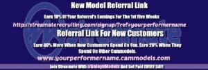 streamate new model referral