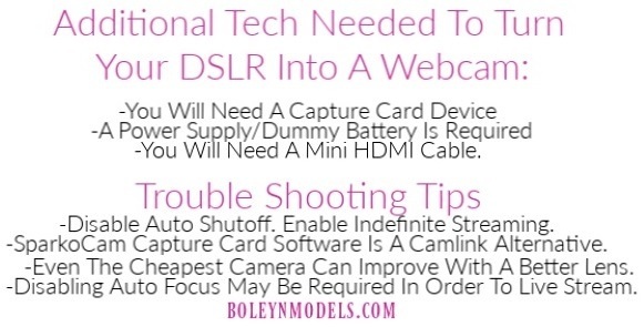 how to turn dslr into webcam