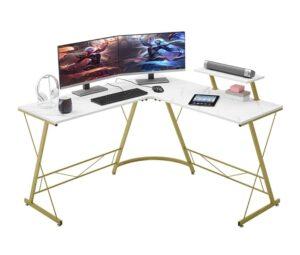 l-shaped desk for streaming